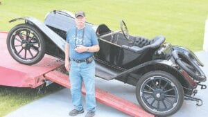 Vehicle Show Coordinator David Beckley was on hand Thursday afternoon when a rare 1913 Regal was delivered to the Hadley Mill Museum.
