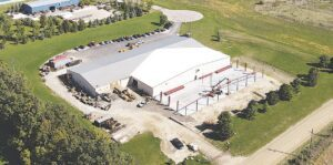 Overview of the KM International manufacturing plant on Bernie Kohler Dr. in the North Branch Industrial Park.  Photo courtesy of Bryan Burke